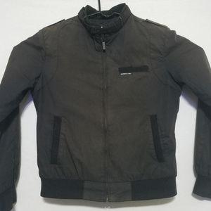 Members Only Bomber Jacket Mens Medium Brown Coat